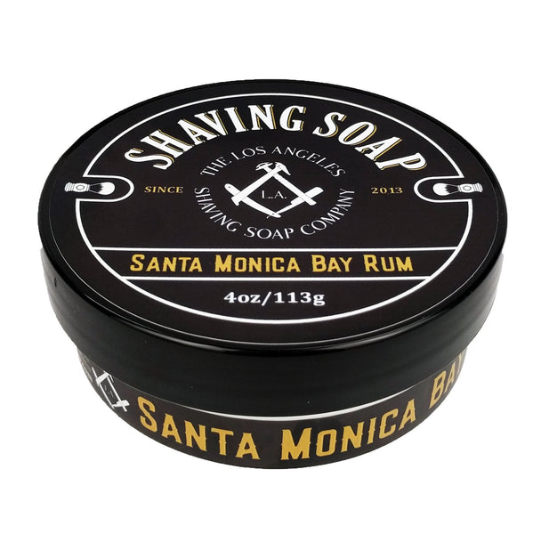 LA Shaving Soap Co. Santa Monica Bay Rum Shaving Soap