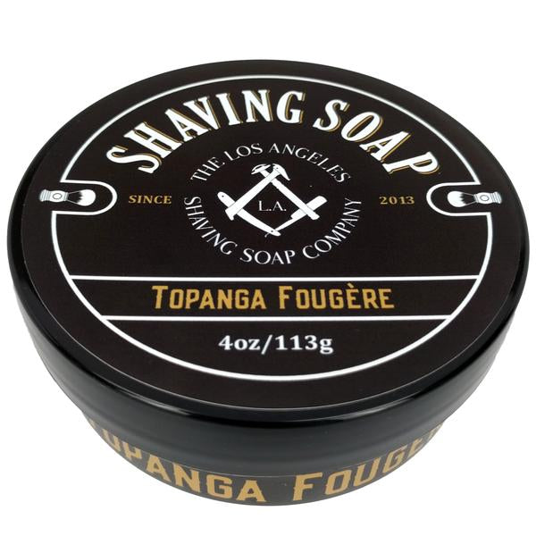 LA Shaving Soap Co. Topanga Fougere Shaving Soap