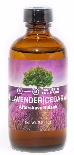 Barrister and Mann Lime, Lavender, and Cedarwood Alcohol Aftershave Splash