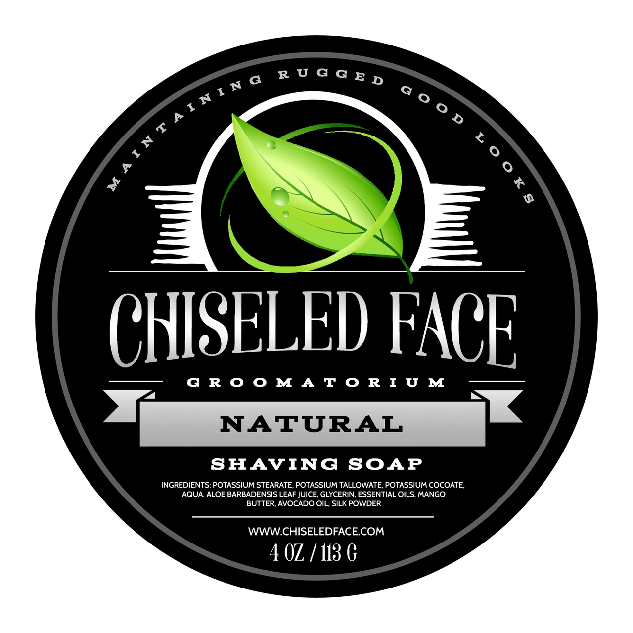 Chiseled Face Natural Shaving Soap