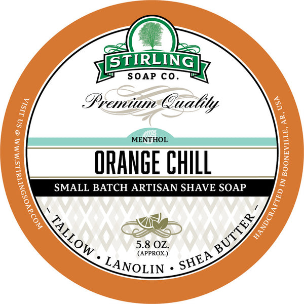 Stirling Soap Co. Orange Chill Shave Soap