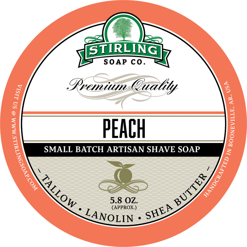 Stirling Soap Co. Peach Shave Soap