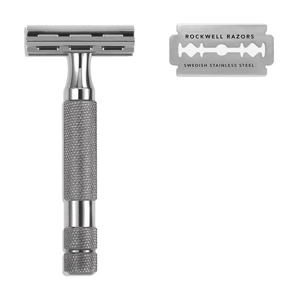 Rockwell 2C Gunmetal Double-Edge Safety Razor