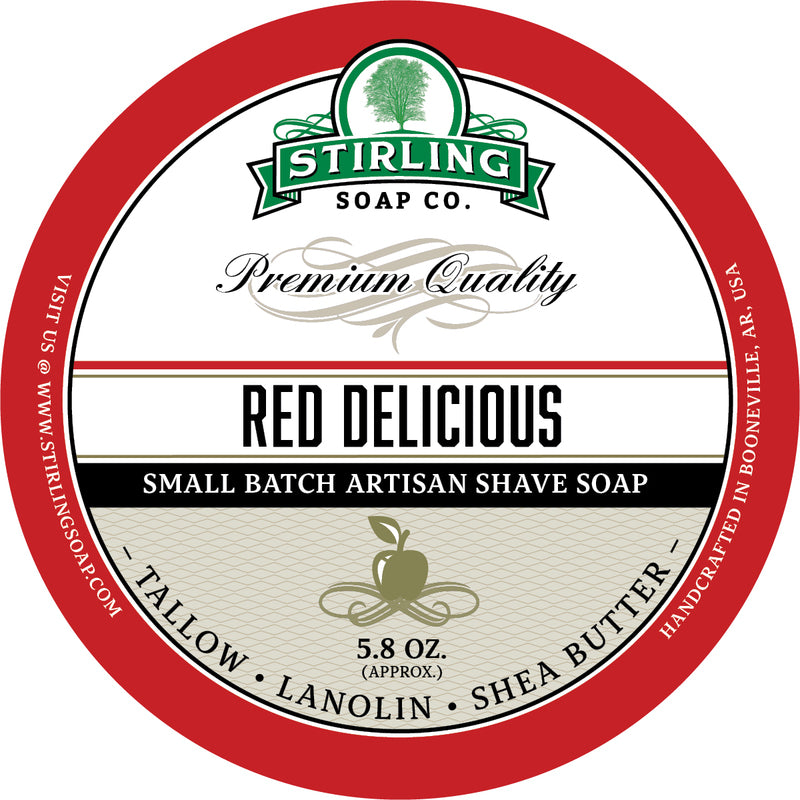 Stirling Soap Co. Red Delicious Shave Soap