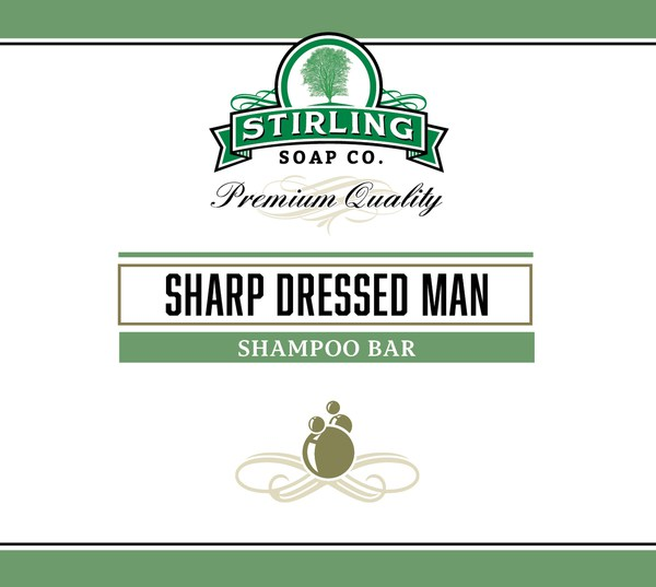 Stirling Sharp Dressed Man Shampoo Bar