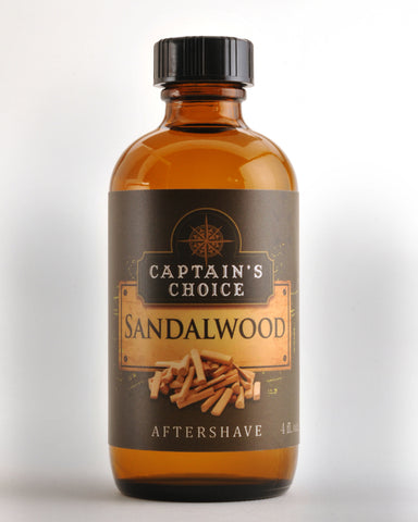 Captain's Choice Sandalwood Aftershave Splash