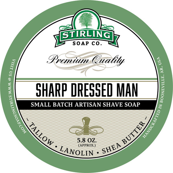 Stirling Soap Co. Sharp Dressed Man Shave Soap