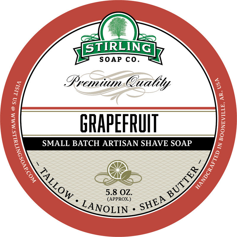 Stirling Soap Co. Grapefruit Shave Soap