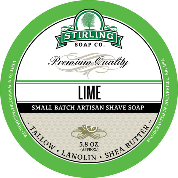 Stirling Soap Co. Lime Shave Soap