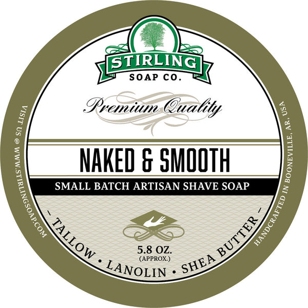 Stirling Soap Co. Naked and Smooth Shave Soap