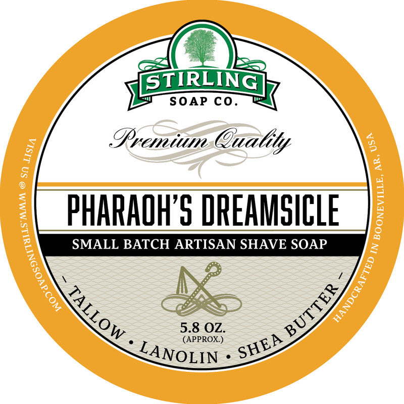 Stirling Soap Co. Pharaoh's Dreamsicle Shave Soap