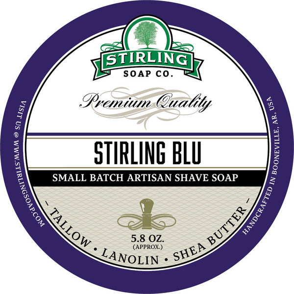 Stirling Soap Co. Stirling Blue Shave Soap