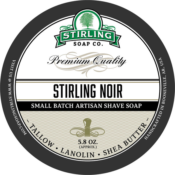 Stirling Soap Co. Stirling Noir Shave Soap
