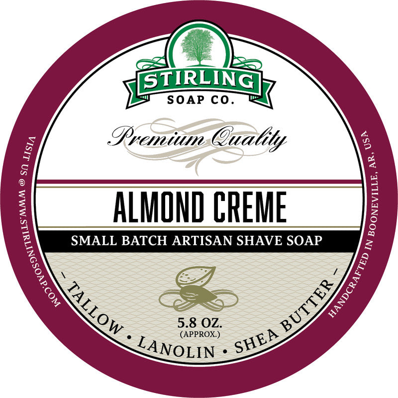 Stirling Soap Co. Almond Creme Shave Soap