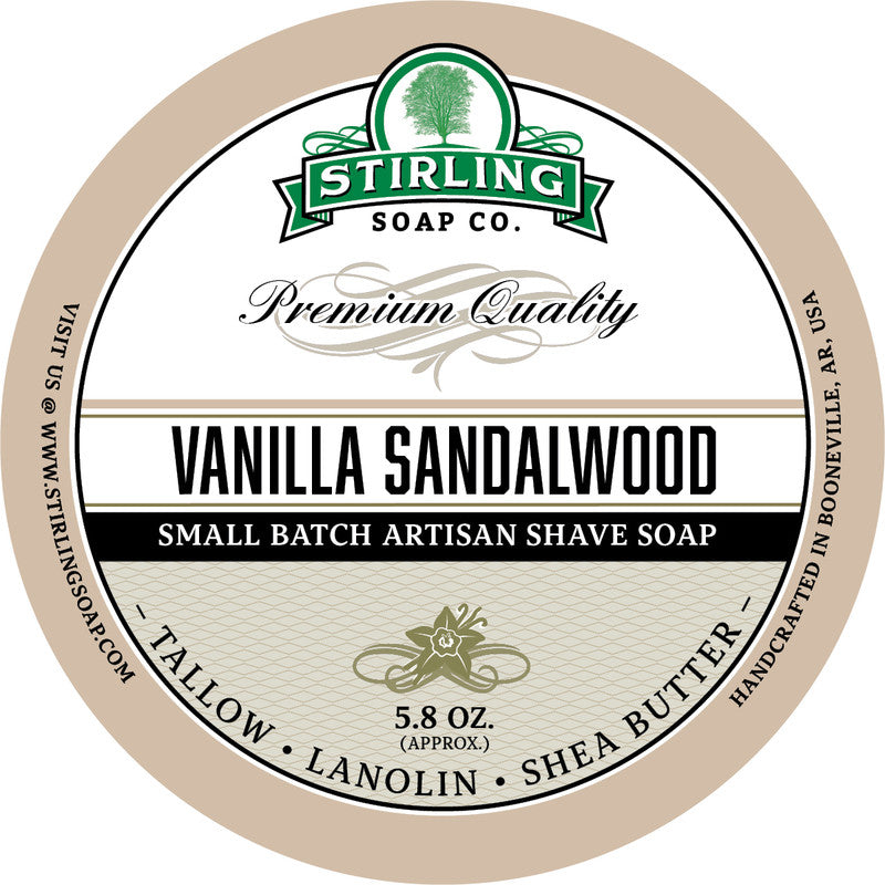 Stirling Soap Co. Vanilla Sandalwood Shave Soap