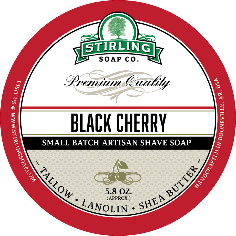 Stirling Soap Co. Black Cherry Shave Soap