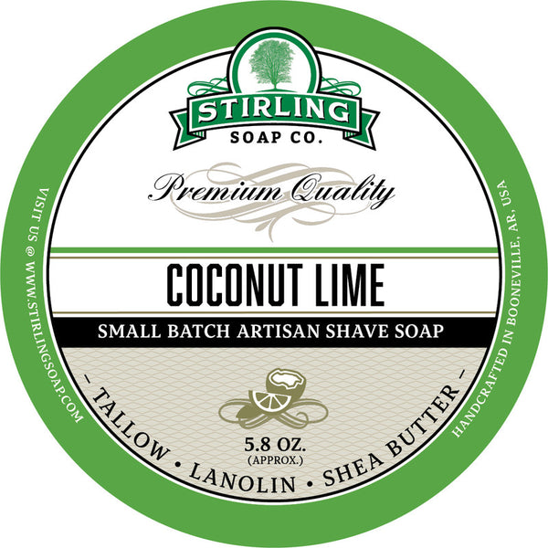 Stirling Soap Co. Coconut Lime Shave Soap