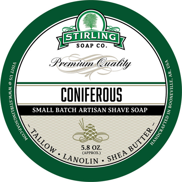 Stirling Soap Co. Coniferous Shave Soap