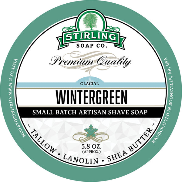 Stirling Soap Co. Glacial Wintergreen Shave Soap