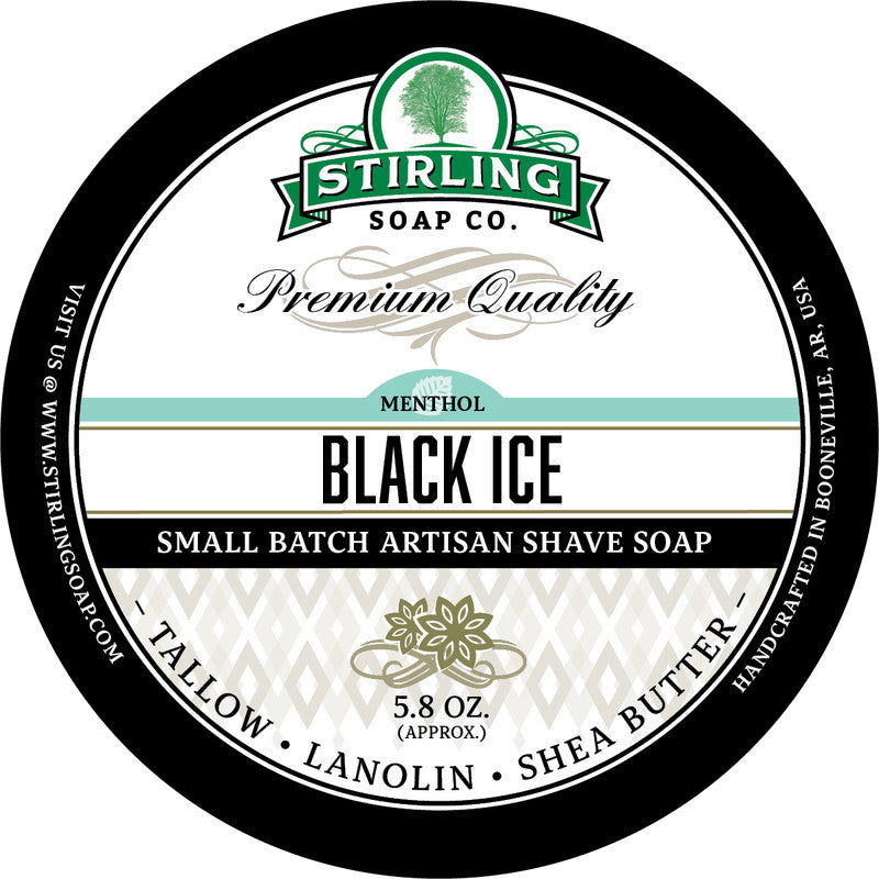 Stirling Soap Co. Black Ice Shave Soap
