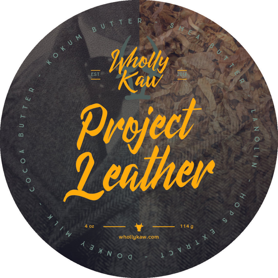 Wholly Kaw Project Leather Shave Soap