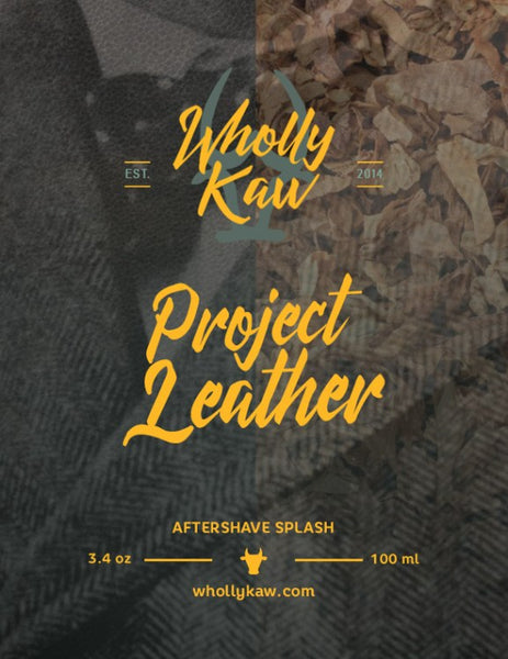 Wholly Kaw Project Leather Aftershave Splash