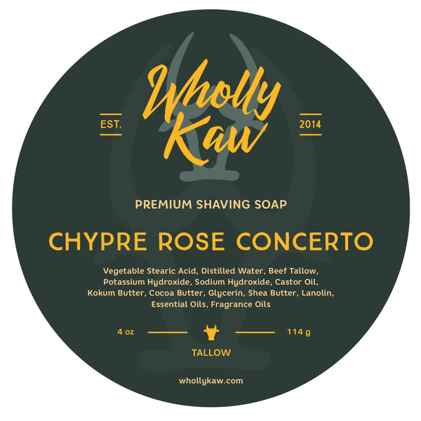 Wholly Kaw Chypre Rose Concerto Shave Soap