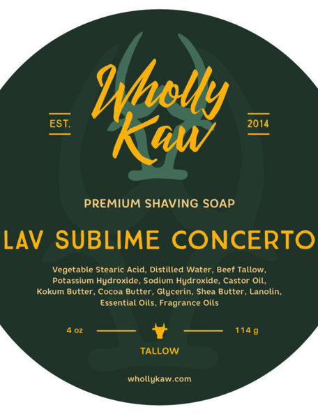 Wholly Kaw Lav Sublime Concerto Shave Soap