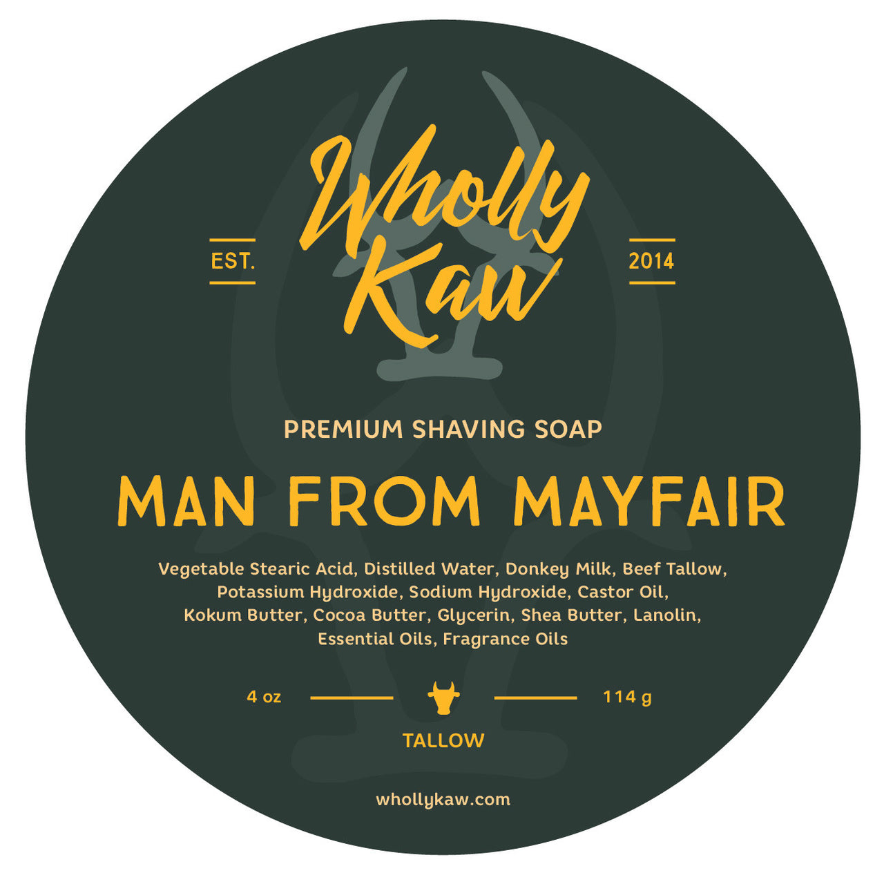 Wholly Kaw Man from Mayfair Shave Soap
