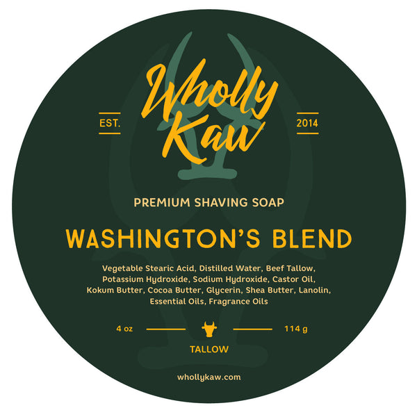 Wholly Kaw Washington's Blend Shave Soap