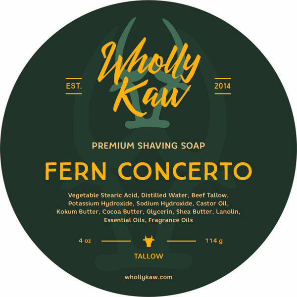 Wholly Kaw Fern Concerto Shave Soap