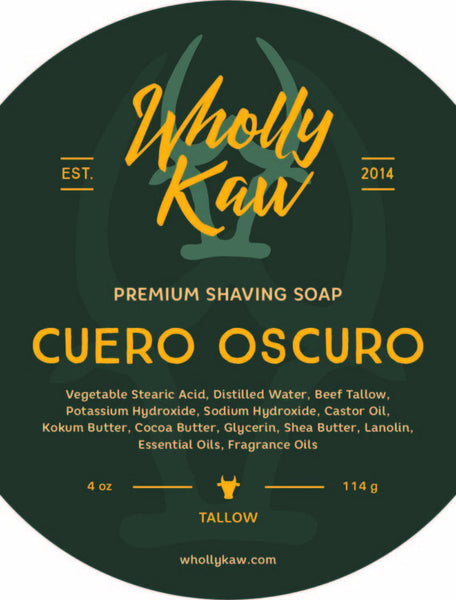 Wholly Kaw Cuero Oscuro Shave Soap
