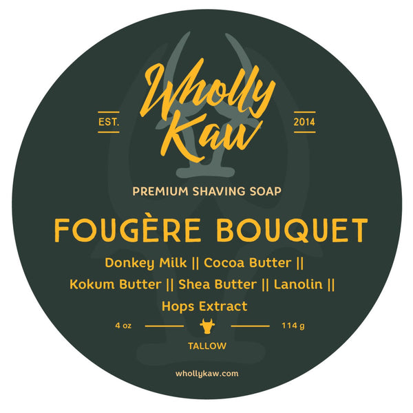 Wholly Kaw Fougere Bouquet Shave Soap