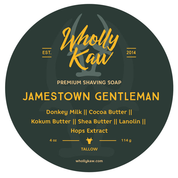 Wholly Kaw Jamestown Gentleman Shave Soap