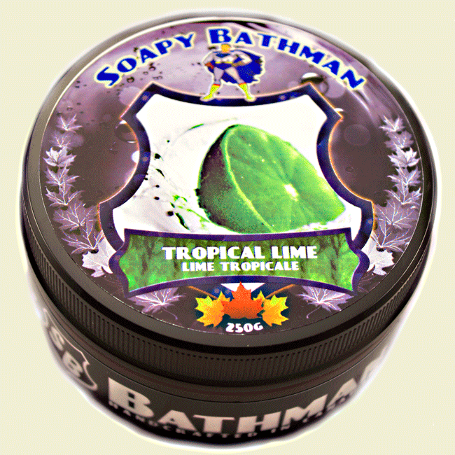 Soapy Bathman Tropical Lime Shave Soap