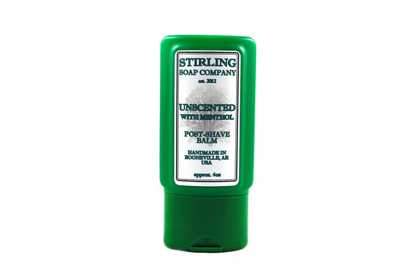 Stirling Unscented with Menthol Aftershave Balm