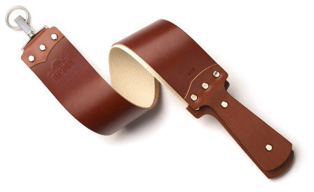 Bison English Bridle Razor Strop in Cognac