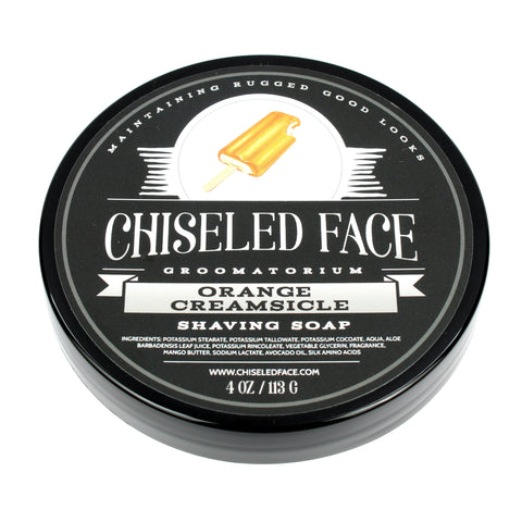 Chiseled Face Orange Creamsicle Shaving Soap