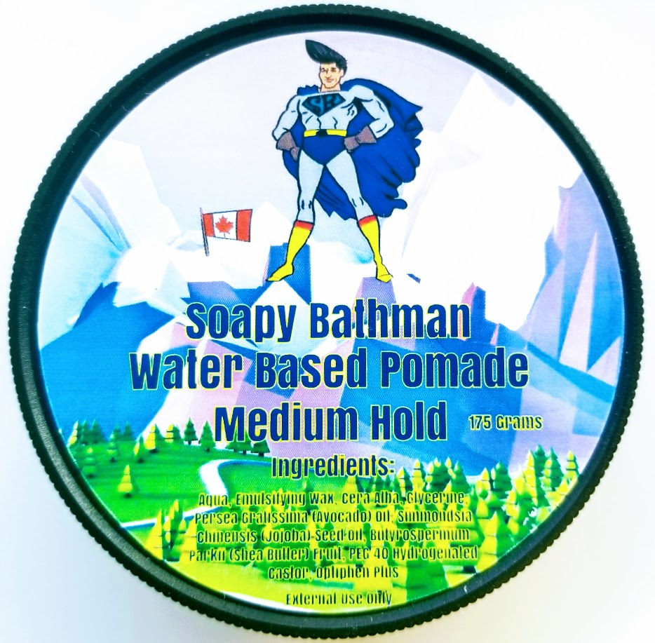 Soapy Bathman Water Based Pomade (Medium Hold)