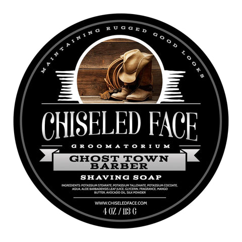 Chiseled Face Ghost Town Barber Shaving Soap