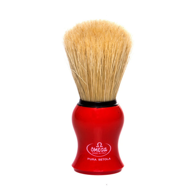 Omega 10065 Boar Brush, Red
