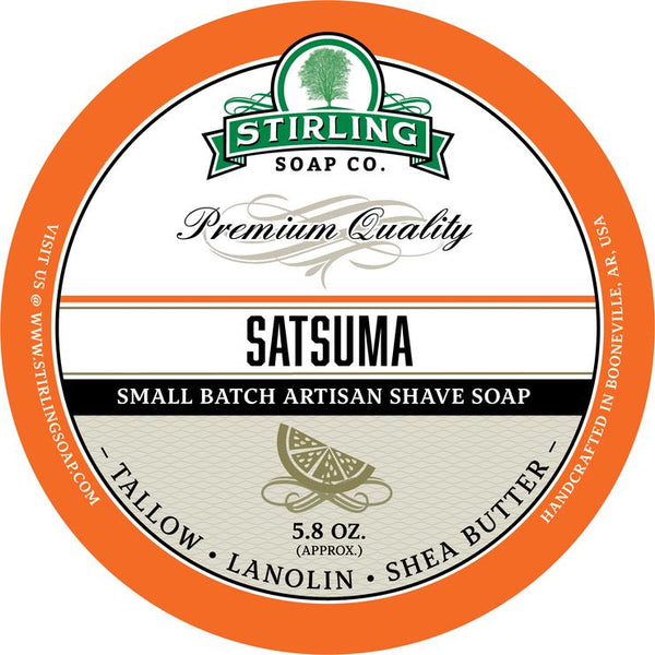 Stirling Soap Co. Satsuma Shave Soap