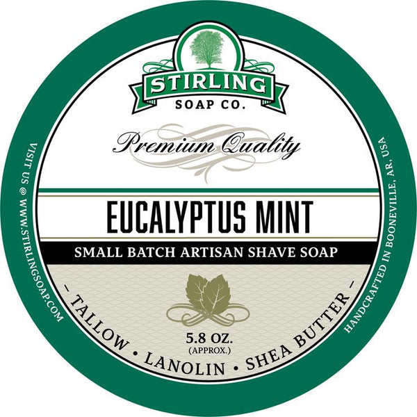 Stirling Soap Co. Eucalytpus Mint Shave Soap