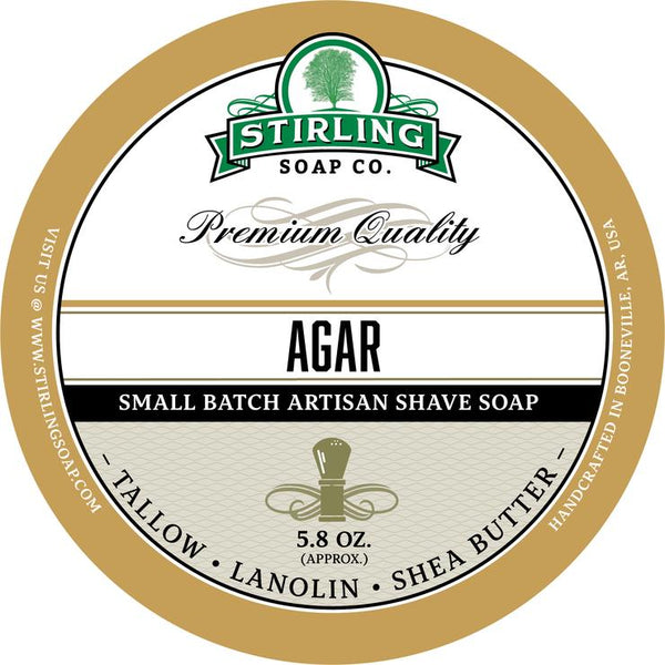 Stirling Soap Co. Agar Shave Soap