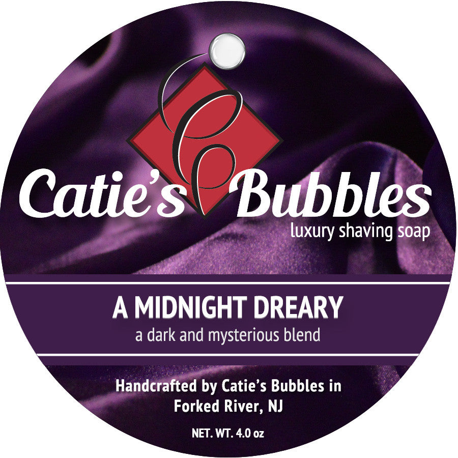 Catie's Bubbles A Midnight Dreary Luxury Shaving Soap