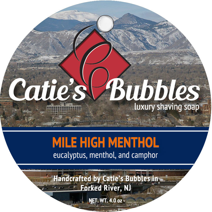 Catie's Bubbles Mile High Menthol Luxury Shaving Soap