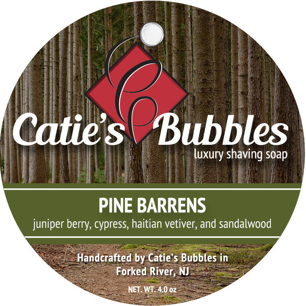 Catie's Bubbles Pine Barrens Luxury Shaving Soap