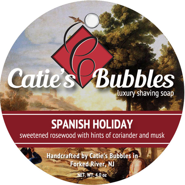 Catie's Bubbles Spanish Holiday Luxury Shaving Soap