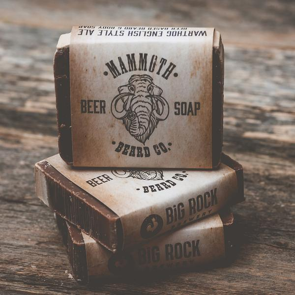 Mammoth Beard Co. Warthog Ale Beard Soap