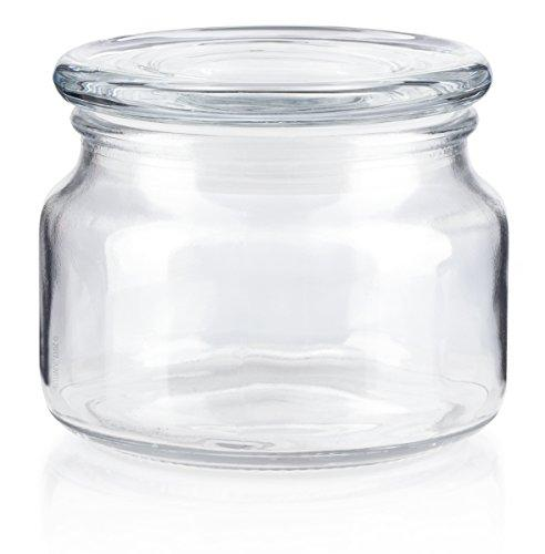 Small Candle Glass Jar with Glass Lid